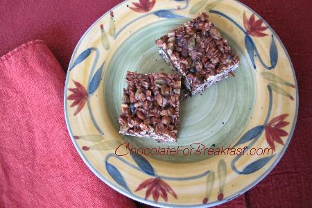 breakfast bar opt No Bake Chocolate Almond Bars